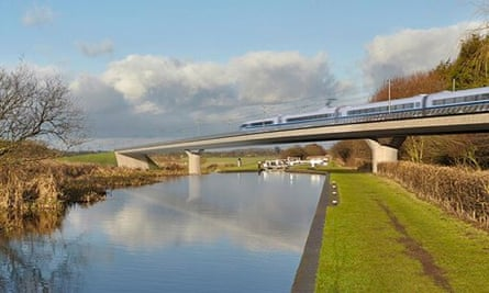 A proposed viaduct on the HS2 high-speed rail route
