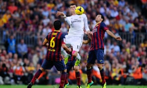 Gareth Bale in his first Clasico