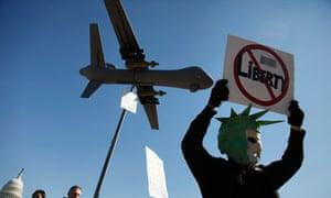 Protester at anti-NSA rally in Washington DC
