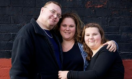 Philip Hartley-Wall with his wife Kimberly and daughter Kailey
