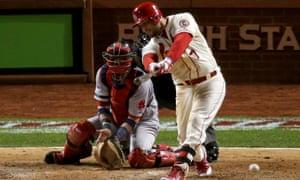 Matt Holliday of the St. Louis Cardinals vs Boston Red Sox