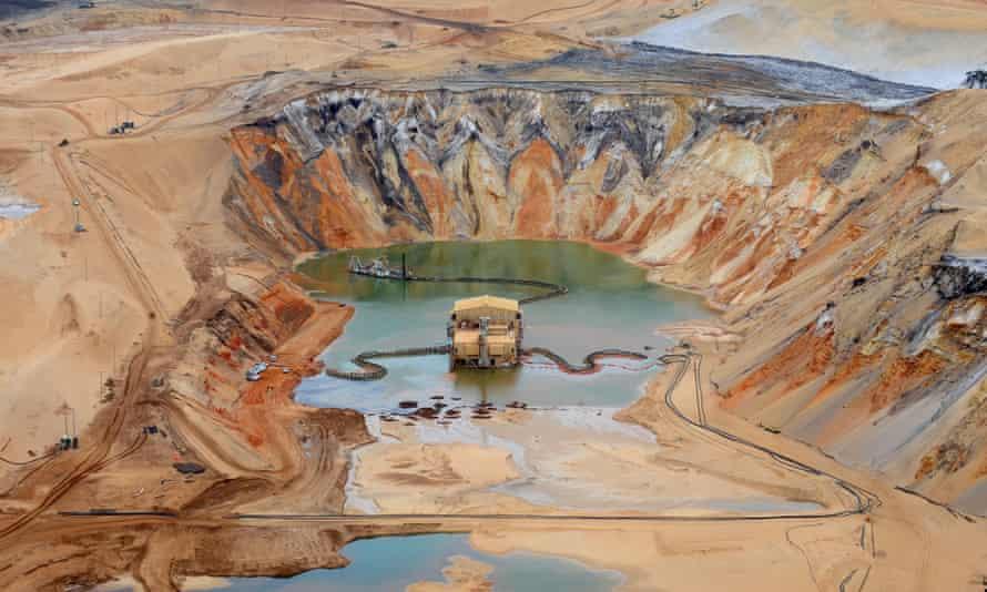 Sand mining Stradbroke Island
