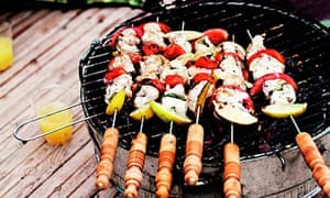 Colour of maroc: Barbequed fish kebabs