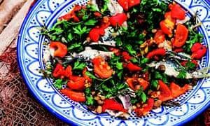 Colour of maroc: sardine and chargrilled capsicum salad