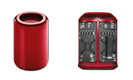 Apple red Mac Pro