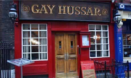 The Gay Hussar restaurant, Soho, London