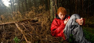 Big Pic - Red Hair: boy with red hair and red jacket in forest