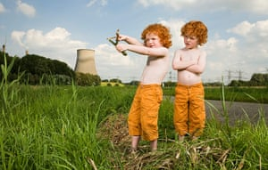 Big Pic - Red Hair: two boys with red hair and orange trousers in grassy landscape