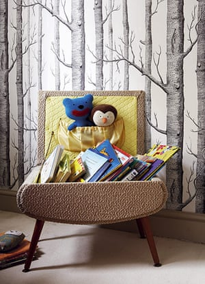 homes - kids: chair with children's books on them