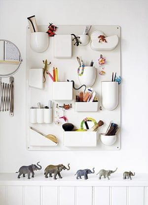 homes - kids: white ceramic wall tidy with toys mounted on wall