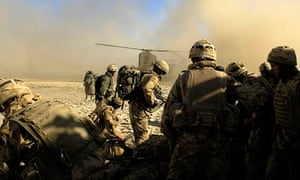 Royal marines in action in Helmand province, Afghanistan.