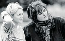 Antonia Bird with Drew Barrymore, left, on Mad Love, 1995.