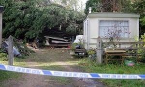 Bethany Freeman's former static caravan home in Kent