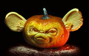 Pumpkin carving: A character carved out of a pumpkin