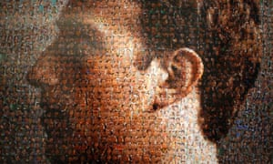 Work profile: A portrait of Facebook founder Mark Zuckerberg made up of pictures of people in an exhibition titled 'The Face of Facebook' in Singapore.