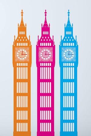 Get The Look - Kids: Big Ben wall sticker
