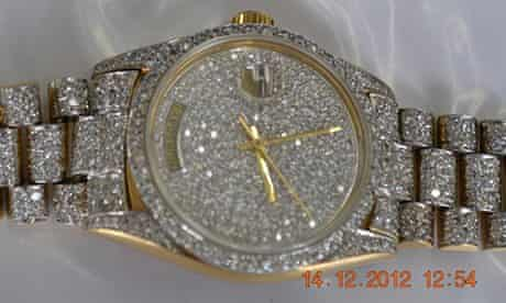 Escobar's Rolex and other items seized from Colombia's drug lords are sold