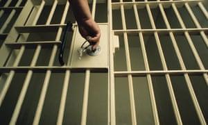 Key in Jail Prison Cell Door