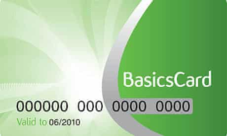Supplied graphic of the new pin-protected BasicsCard to enable welfare recipients to buy essentials