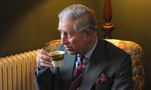The Prince of Wales having tea in the living room of the birthplace of Dylan Thomas in Swansea. Prince Charles recorded Fern Hill by the Welsh writer to mark National Poetry Day.