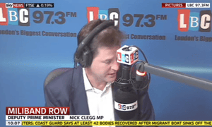 Nick Clegg hosting his LBC phone-in
