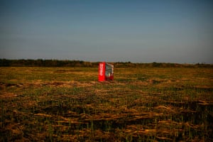 Fukushima: A vending machine is seen in a abandoned rice field