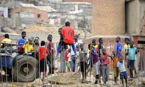 Children at the Boa Vista slum, Luanda