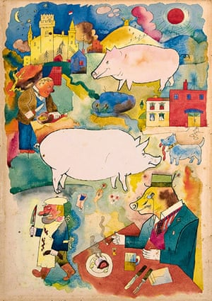 George Grosz: Sonniges Land (Sunny Land), 1920 Watercolour on paper
