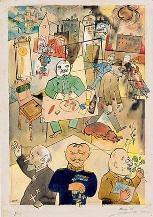 George Grosz: Deutschland, ein Wintermärchen (Germany, a Winter's Tale), 1918. Watercolou