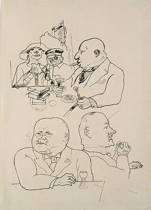 George Grosz: Sumpfblume des Kapitalismus (Swamp Flowers of Capitalism), 1919Reed pen, p