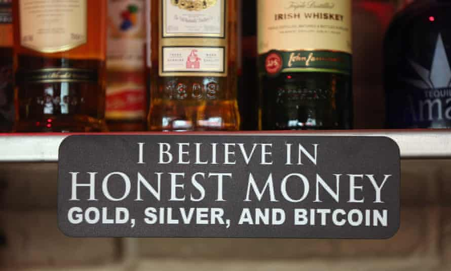 A sign announces a proprieter's loyalty to Bitcoins, where they are also accepted for payment, at a pub on April 11, 2013 in Berlin, Germany.