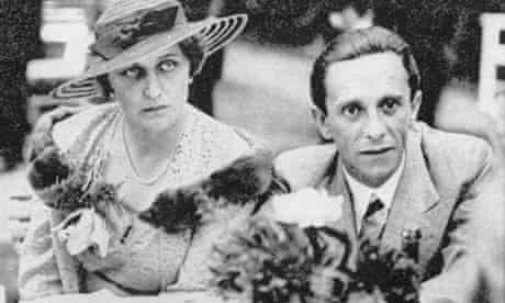 Joseph Goebbels, pictured with his wife Magda
