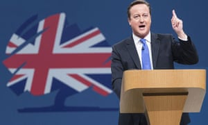 David Cameron speaking at Conservative party conference