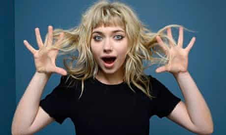 Imogen Poots: 'There's a lot of big things piled on my face.'