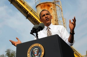 US President Barack Obama speaks during a visit to M. Luis Construction, a construction company in Rockville, Maryland, USA, 03 October 2013.