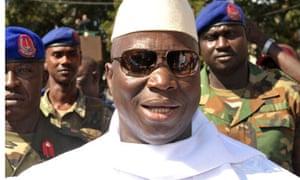 Gambia president Yahya Jammeh