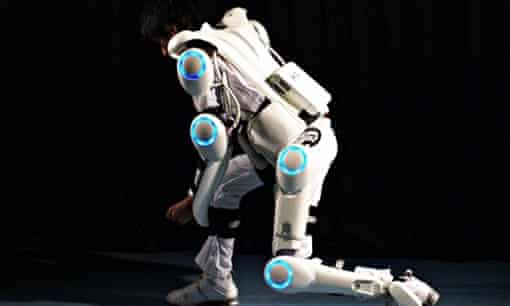 Iron Man … Cyberdyne's Hybrid Assistive Limb is controlled by the wearer's neural signals.