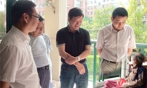 Officials in China's Anhui province have apologised for this doctored photograph