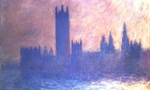 Detail from Claude Monet's Houses of Parliament, Sunlight Effect 1903.