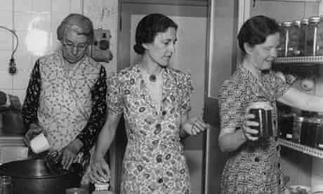 Ladies of the Womens Institute (WI) making jam