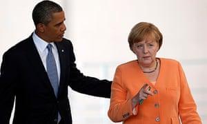 President Obama and Angela Merkel