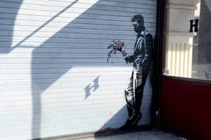 Banksy in NYC update: 'Waiting in vain...at the door of the club.'