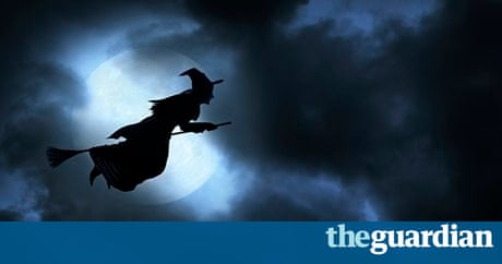 Halloween witch is a travel sickness drug behind flying
