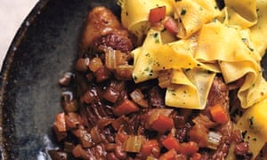 Lamb 'osso buco' with parsley pappardelle