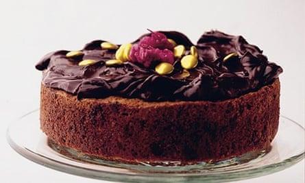 Chocolate chip hazelnut cake with chocolate cinnamon butter cream