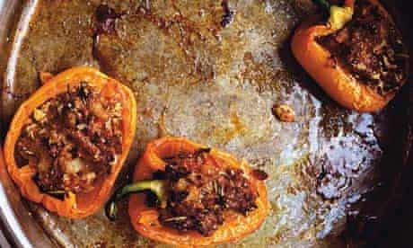 Peppers with pork and rosemary