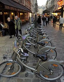 Velib rental bicycles in Paris