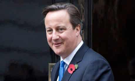 David Cameron at No 10 Downing Street
