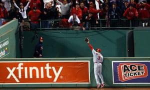 Carlos Beltran catch off David Ortiz, Cardinals vs Red Sox, Game One
