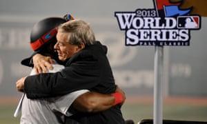 David Ortiz hugs MLB commissioner Bud Selig